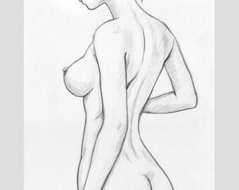 curvy girl nude drawing