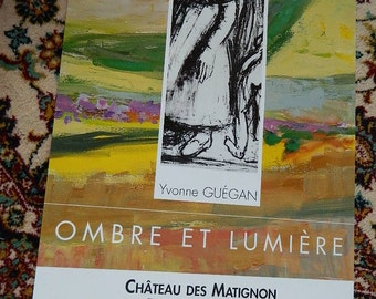 French poster. POSTER exhibition Yvonne GUEGAN 1996