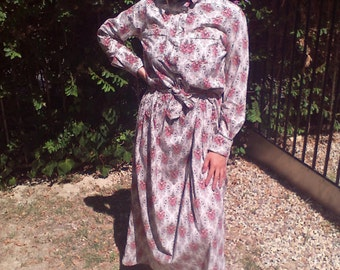 Long dress, cotton dress, western dress ,small,dress,maxi dress