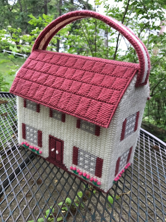 Hand Crafted Yarn House Purse Handbag or even Doll Carrier