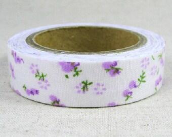 Roll of masking tape liberty purple fabric - Washi tape fabric
