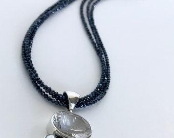 Necklace Spinal Quartz Hematite