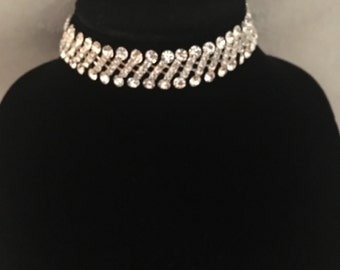 The Milania Choker// Diamond Jewel Choker// Free Gift!!!