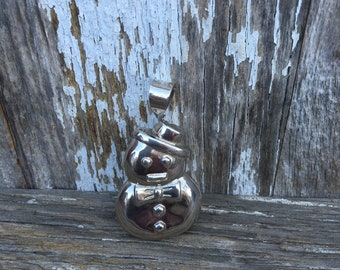 Sterling Silver Snowman Pendant