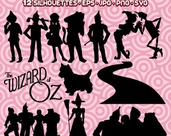 Wizard of Oz SVG, Wizard of  Oz Silhouette, Wizard of Oz PNG, Wizard of Oz JPG, Instant Download 118