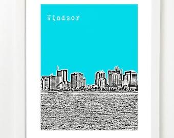 Windsor, Ontario Skyline Art - Windsor  City Art Print - Windsor Poster - Canada -