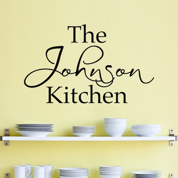 Personalized Name Kitchen Wall Decal Custom Name Decal
