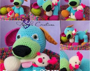 Puppy Love en rubberchick in basket