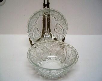 "Vintage Gardenia 5"" Crystal Bowl Set of 4 in box"