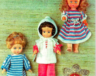 ROBIN 2533 Vintage Doll Knitting Pattern Instant Download