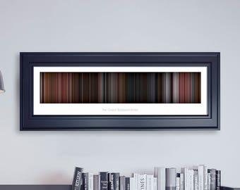 The Grand Budapest Hotel // Movie Poster // Movie Barcode // Oscar Film // Academy Awards // Wall Decor // Panoramic