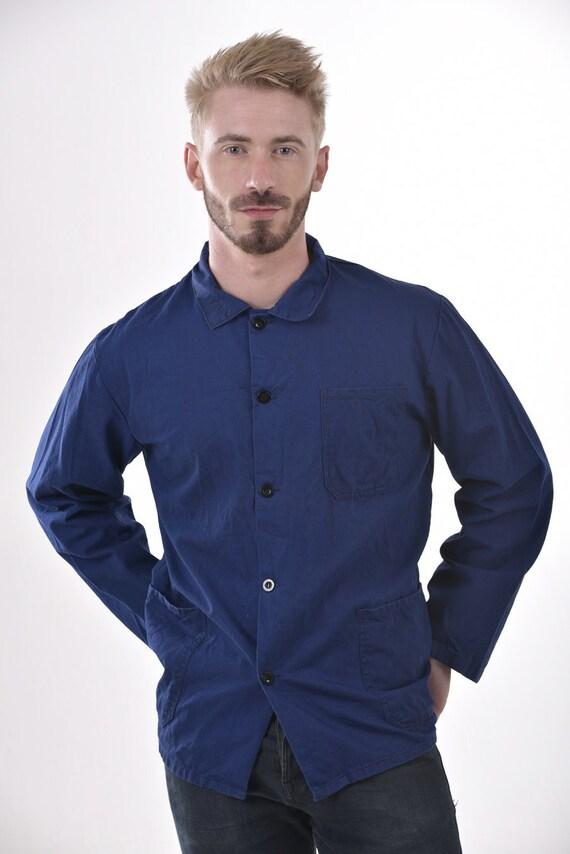 Vintage Blue Cotton Chore Jacket L - www.brickvintage.com LOIXCe