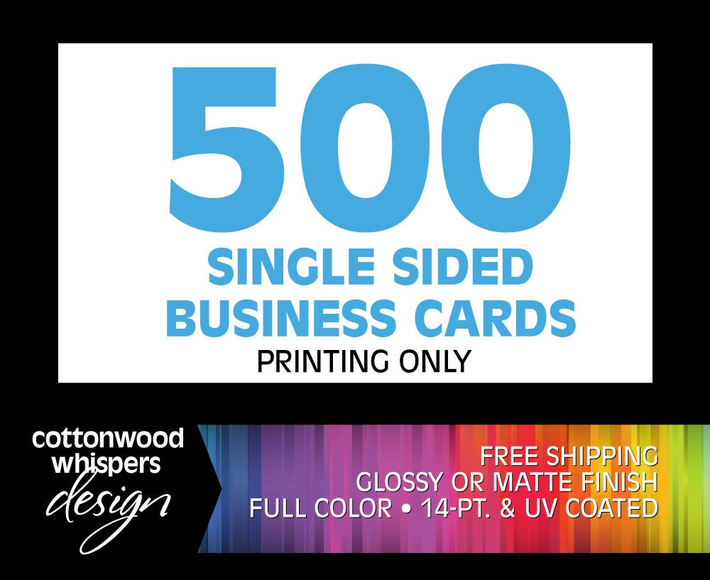 500 Business Cards Business Card Printing Glossy Cards