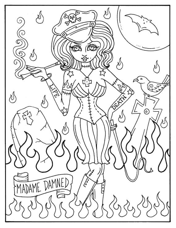 Außenseiter-Mädchen 5 Seiten Halloween Misfits unheimlich