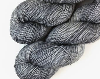 Cameron Gray - hand dyed yarn - fingering, sock, sport, DK, worsted weight - 100 grams - dyed to order