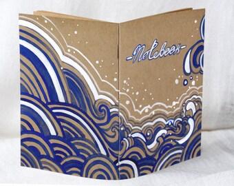 Drawing Book, Art Journal, Small Scrapbook, Scrapbook Notebook, Blank Sketchbook, Upcycled Art Gift, Brown Notebook, Small Sketchbook