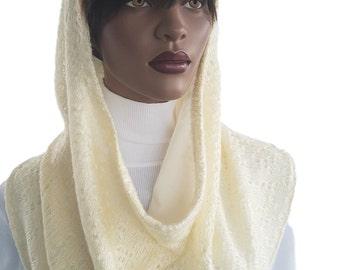 Koul SHôl Head Hoodie™  Vanilla Sweater Knit Cowl Hoodie Fully Lined Hoodie Hijab Hoodie Handmade