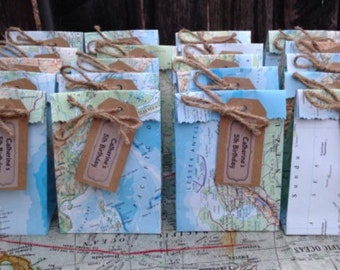 70 World Map Favor Bags for Hailey @ Public Library
