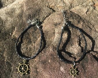 Bronze Nautical Wheel Bracelet