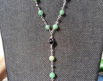 Jade Beaded Necklace, Jade Necklace