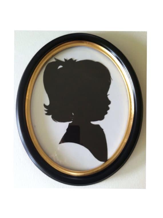 8x10 Black Oval Wood Frame