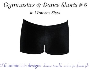 Gymnastics & dance shorts 5 pattern Ladies sewing pdf pattern ebook tutorial dance costume