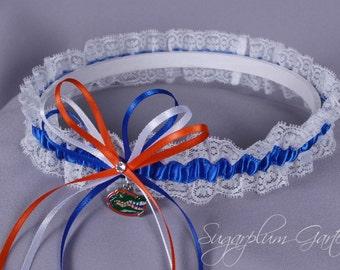 University of Florida Gators Lace Wedding Garter - Ready to Ship