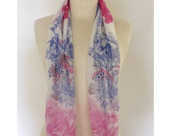 Limited Edition Floral Silk Georgette Scarf