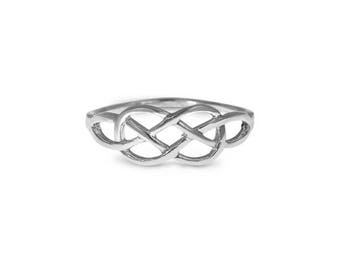 Celtic Ring, Dainty Celtic Ring, Sterling Silver Ring, Silver Ring For Women, Bohemian Ring, Boho Chic Ring, Ethnic Ring, Vintage Style Ring