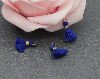 4 mini PomPoms cotton 10 mm choose colors