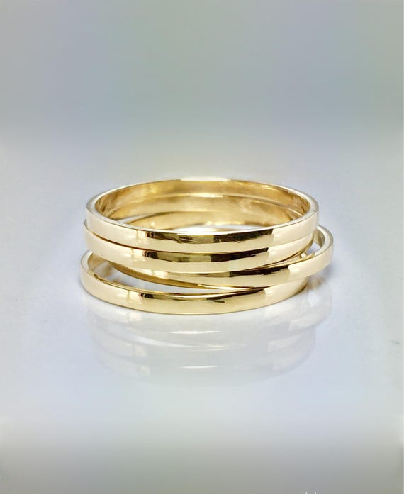 BIG SALE 14k 10k Solid Gold Couple Ring Simple Gold Ring