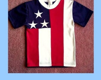 Kids T-Shirt designed for the American Flag with all it's glory