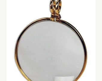 Memorial Day Sale 7Gypsies Optical Lens: Antique Brass - Looking Glass - 2 PC
