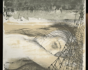 """PIERRE-YVES TREMOIS (French, 1921-2010), """"Helene"""", 1964, original lithograph."""