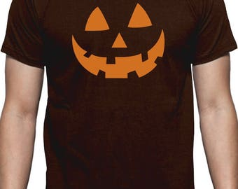 Orange Jack O' Lantern Pumpkin Face Halloween Costume T-Shirt