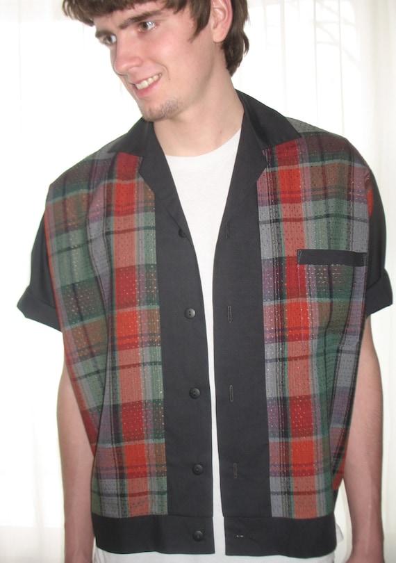 Men's Rockabilly Shirt Jac Vintage Plaid uHaGNEEJz
