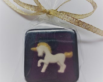 Classy Unicorn Soap Favors, 12, bags and ribbons, any color