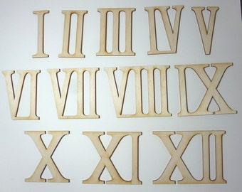 Wooden roman numerals / numerics 80 mm high for handicrafts