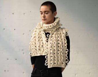 Loopy Scarf 03: Off White