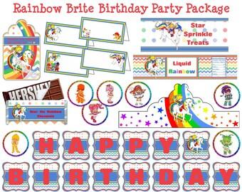 Rainbow Brite Birthday Party - Rainbow Brite Party - Rainbow Brite Decorations - Rainbow Birthday Party - Rainbow Party - Instant Download