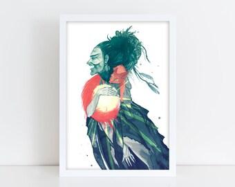 Louhi steals the Sun - Giclée art print