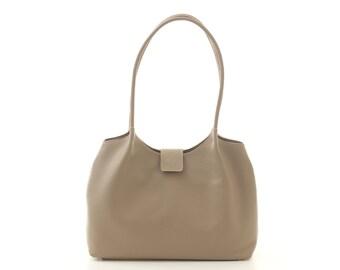 Pastel taupe leather tote,leather tote,leather bag,taupe leather bag,beige leather bag,beige bag,leather handbag,everyday bag,