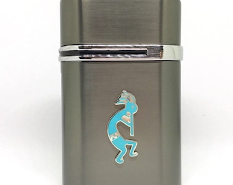 Kokopelli Desktop Lighter – Turquoise
