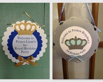 Royal Prince Boy Birthday Party Set total party package