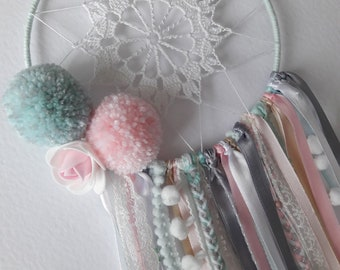 Dream catcher pink mint and grey-