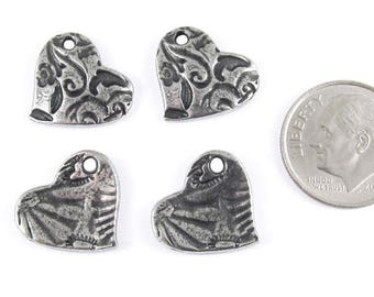 TierraCast Lead Free Charms-Pewter AMOR HEART 14mm (4)