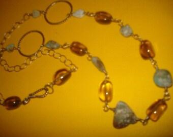 Earthy Smokey Turquoise Necklace