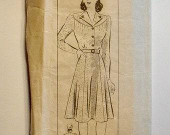 Anne Adams 1940s Dress Sewing Pattern 4791 Size 16 Bust 34
