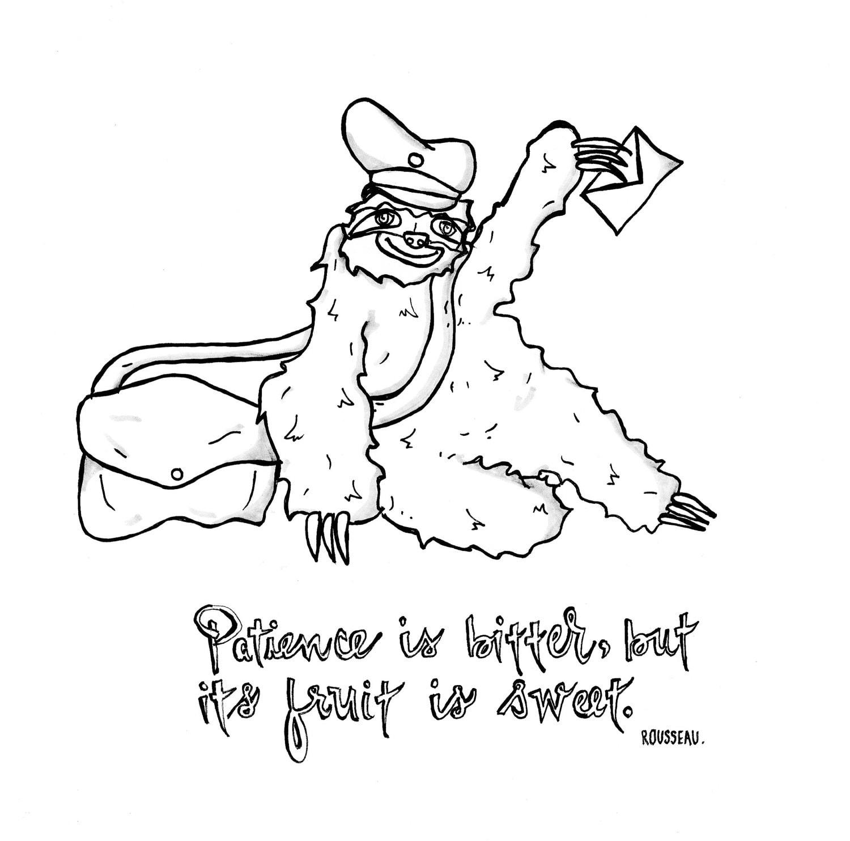 Arte de mailman Postal perezoso Humor Digital descargar