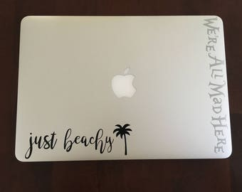 Just Beachy vinyl decal